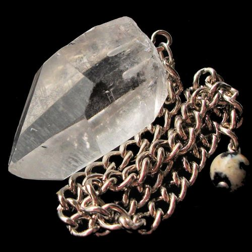 Rock Crystal Raw Natural Point Dowsing Pendulum